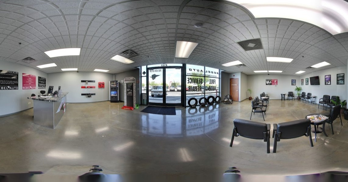 front desk area at Rebel Automotive in Henderson, NV