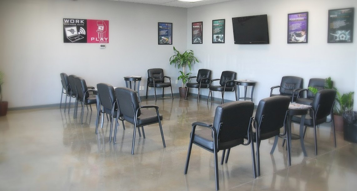 Lounge & Waiting Area at Rebel Automotive in Henderson, NV